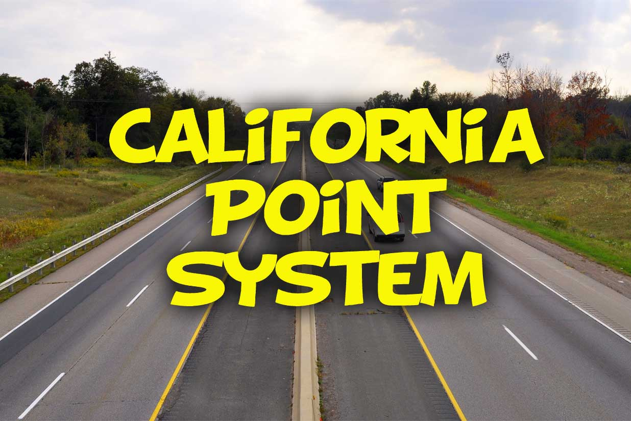 California Point System - http://california-dmv-practice-test.org