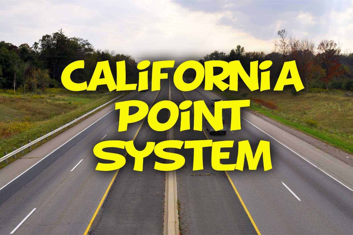 California Point System - http://california-dmv-practice-test.org