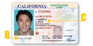 info New Dmvorg Apply Oukas - Card Identification California A For