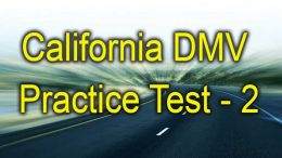 California dmv practice test 2