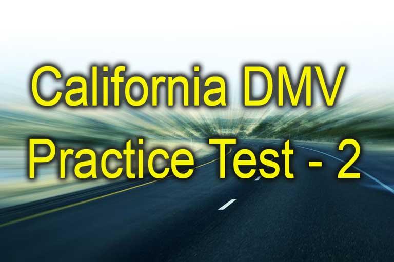 California dmv practice test 2