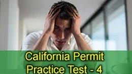 California Permit Practice Test - 4