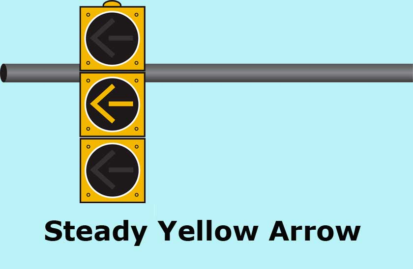 Can you enter the intersection against a steady yellow arrow?