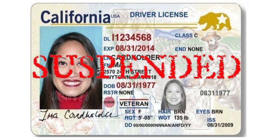California - Suspended License
