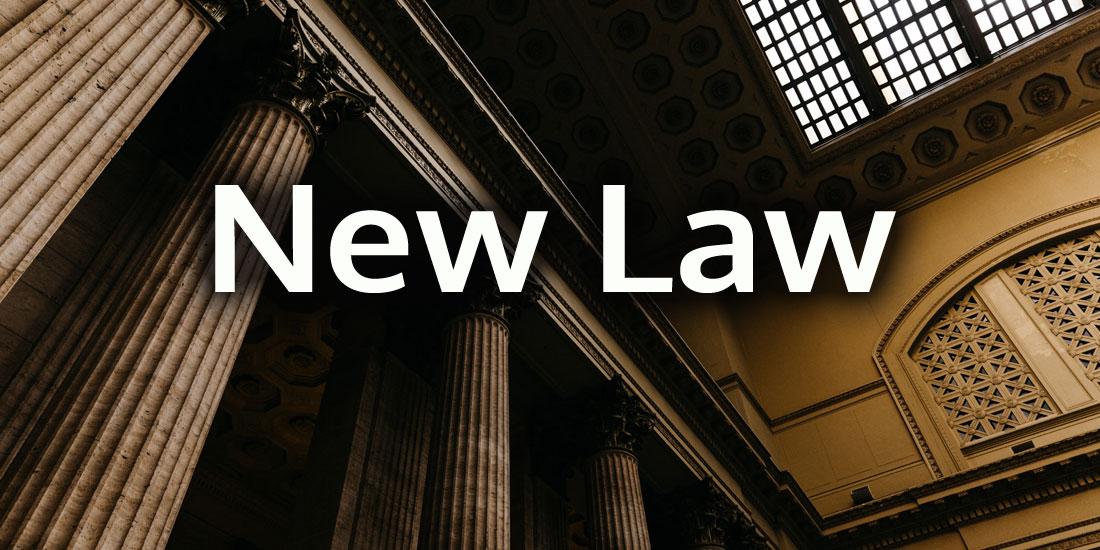 New Law - Senate Bill No. 485